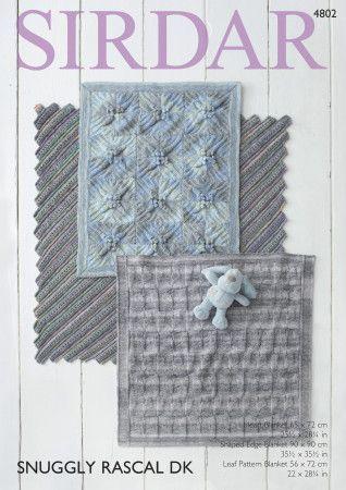 Blankets in Sirdar Snuggly Rascal DK (4802)