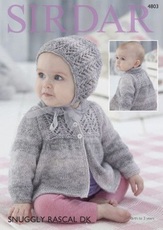 Jacket and Bonnet in Sirdar Snuggly Rascal DK (4803)