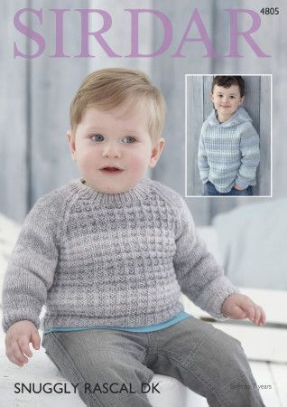 Baby Boy's and Boy's Sweaters in Sirdar Snuggly Rascal DK (4805)