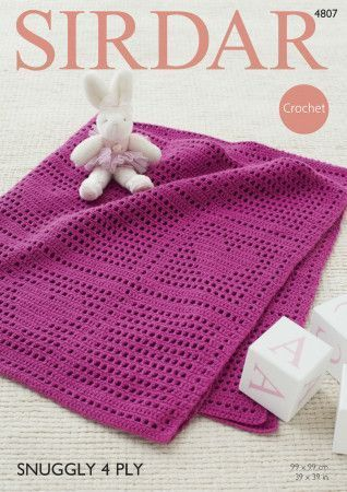 Blanket in Sirdar Snuggly 4 Ply (4807)