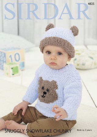 Sweater and Hat in Sirdar Snuggly Snowflake Chunky (4825)