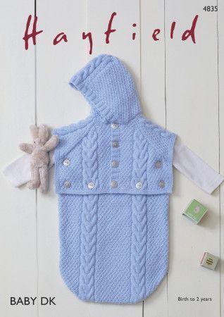 Baby Sleeping Bag in Hayfield Baby DK (4835)