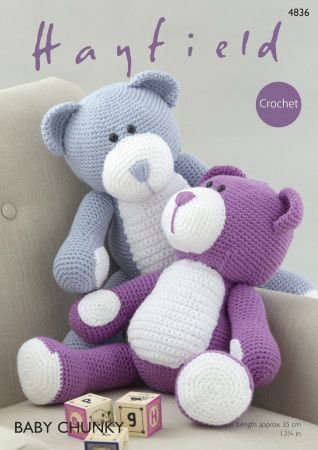 Bear in Hayfield Baby Chunky (4836)