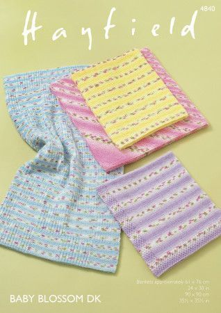 Blankets in Hayfield Baby Blossom (4840)