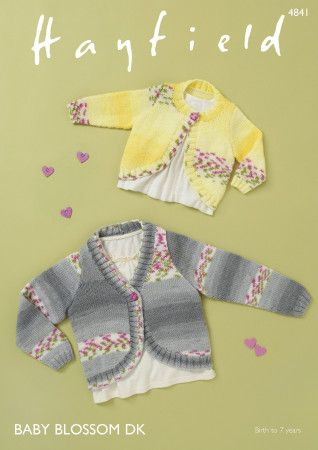 Cardigans in Hayfield Baby Blossom DK (4841)