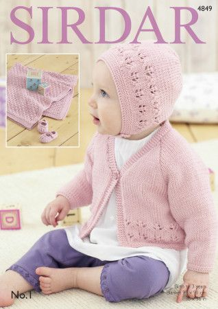 Cardigan, Bonnet, Shoes and Blanket (4849)