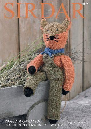 Fox in Sirdar Snuggly Snowflake DK, Sirdar Harrap Tweed DK and Hayfield Bonus DK (4874)