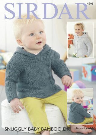 Sweater and Jacket in Sirdar Snugglu Baby Bamboo DK (4891)
