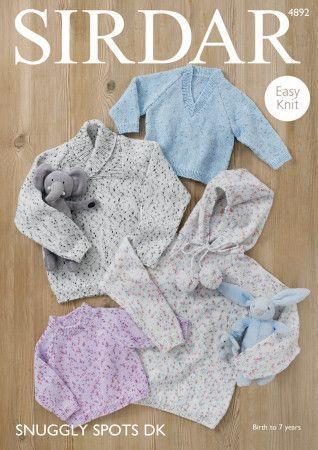 Sweaters in Sirdar Snuggly Spots DK (4892)