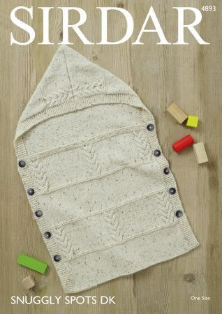 Baby's Sleeping Bag in Sirdar Snuggly Spots DK (4893)