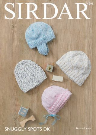 Hats in Sirdar Snuggly Spots DK (4895)