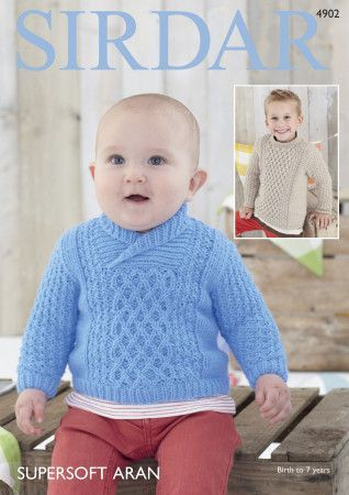 Sweaters in Sirdar Supersoft Aran (4902)