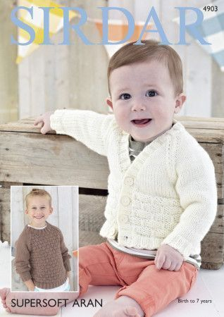 Boys Cardigan and Sweater in Sirdar Supersoft Aran (4903)