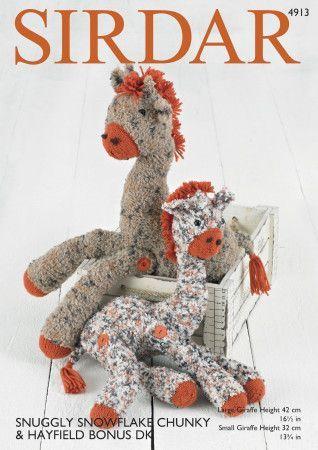 Giraffe Toys in Sirdar Snowflake Chunky and Hayfield Bonus DK (4913)
