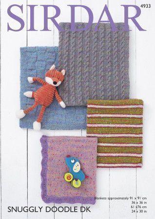 Blankets in Sirdar Snuggly Doodle DK (4933)