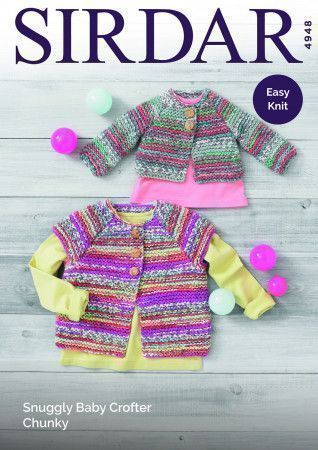 Cardigans in Sirdar Snuggly Baby Crofter Chunky (4948)