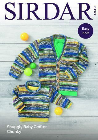 Sweater and Cardigan in Sirdar Snuggly Baby Crofter Chunky (4949)