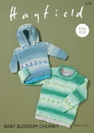 Sweaters in Hayfield Baby Blossom Chunky (5178)