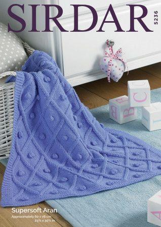 Blankets in Sirdar Supersoft Aran (5236)