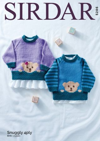 Sweaters in Sirdar Snuggly 4 Ply (5286)