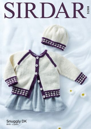 Cardigan and Hat in Snuggly DK (5288)