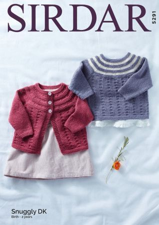 Cardigan and Sweater in Sirdar Snuggly DK (5291)