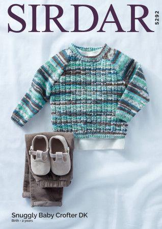 Sweater in Sirdar Snuggly Baby Crofter DK (5292)