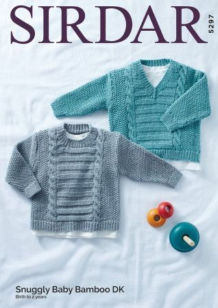 Sweaters in Sirdar Snuggly Baby Bamboo DK (5297)