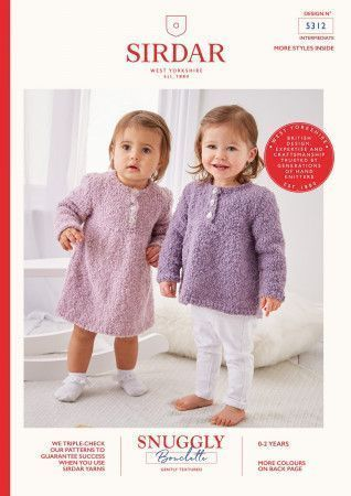 Dress and Sweater in Snuggly Bouclette (5312)