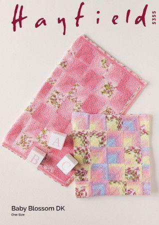 Blankets in Hayfield Baby Blossom DK (5355)
