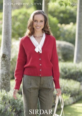 Cardigan in Sirdar Country Style 4 Ply (7044)