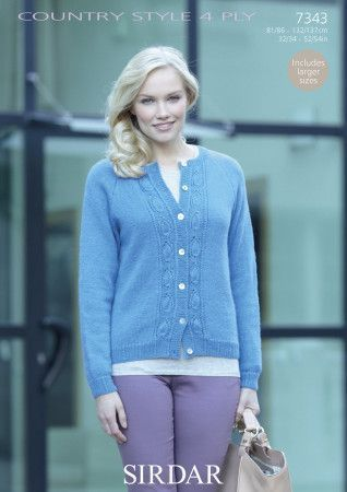 Cardigan in Sirdar Country Style 4 Ply (7343)