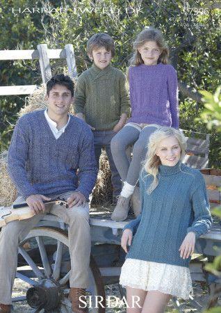 Family Sweater in Sirdar Harrap Tweed DK (7396)