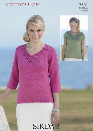 Sweaters in Sirdar Cotton DK (7501)