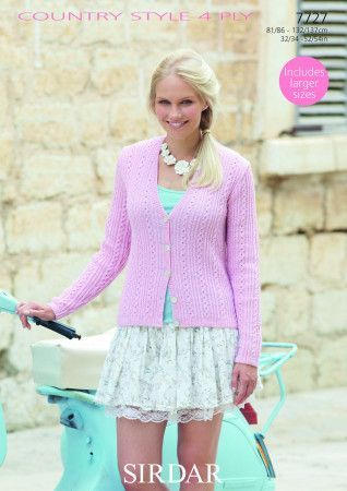 Cardigan in Sirdar Country Style 4 Ply (7727)