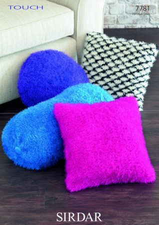 Cushion Covers in Sirdar Touch and Country Style DK (7781)