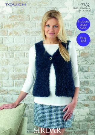 Woman's Gilet in Sirdar Touch (7782)
