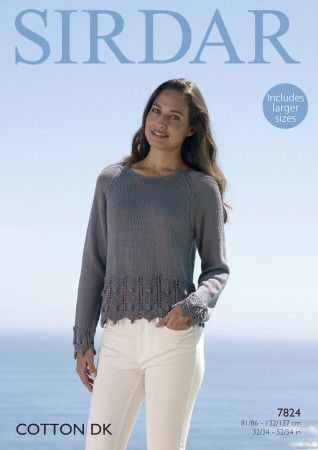 Sweater in Sirdar Cotton DK (7824)