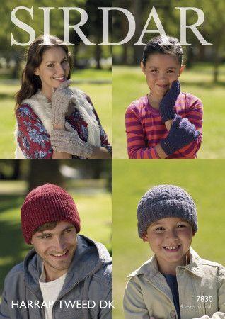 Gloves and Hats in Sirdar Harrap Tweed DK (7830)
