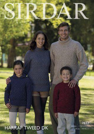 Sweaters in Sirdar Harrap Tweed DK (7832)