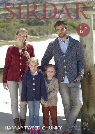 Cardigans in Sirdar Harrap Tweed Chunky (7851)