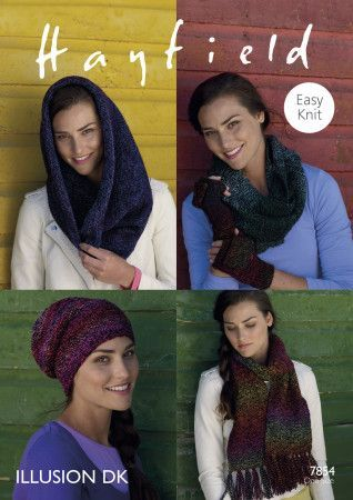 Accessories in Hayfield Illusion DK (7854)