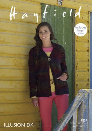 Women's Jacket in Hayfield Illusion DK (7857)
