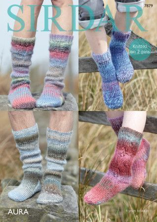 Socks in Sirdar Aura (7879)