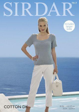 Sweater in Sirdar Cotton DK (7917)