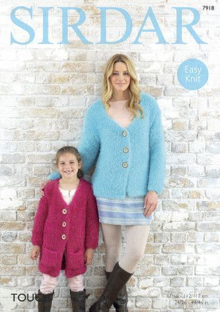 Cardigans in Sirdar Touch (7918)