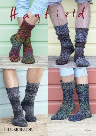 Socks in Hayfield Illusion DK (7935)