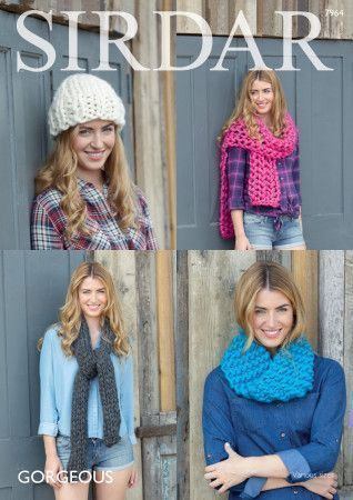 Snood, Hat and Scarves in Sirdar Gorgeous (7964)