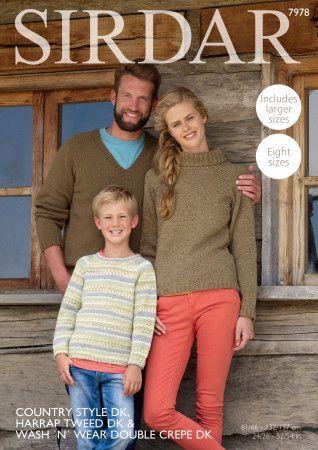 Sweaters in Sirdar Country Style DK, Crofter DK and Harrap Tweed DK (7978)