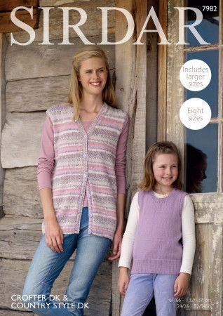 Waistcoat and Tank in Sirdar Crofter DK and Sirdar Country Style DK (7982)